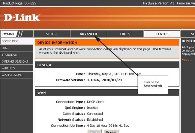 نتیجه تصویری برای تصویر اولین صفحه تنظیمات مودم D LINK برای انتقال تصویر
