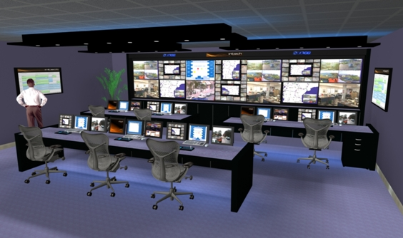 اتاق کنترل دوربین مداربسته شیراز