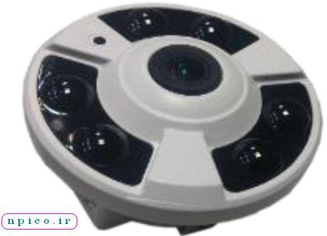 پخش همکار دوربین مدار بسته UTECH نعیم پردازش مدل فیش آی با 360 درجه 2 و 5 مگاپیکسل