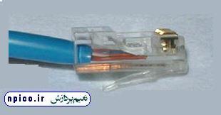 سوکت ردن صحیح کابل شبکه با اچار پرس