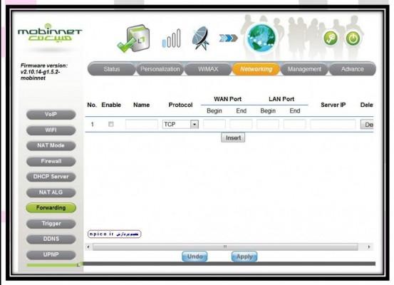 پورت فروارد وایمکس مبین نت برای انتقال تصویر دوربین مدار بسته www.npico.ir