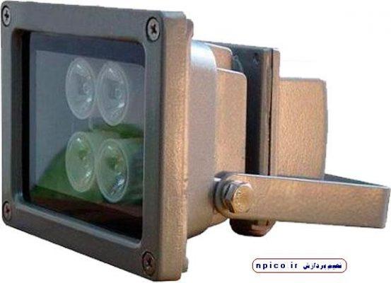 پروژکتور مادون قرمز دوربین مداربسته نعیم پردازش فروش عمده همکار دوربین npico.ir