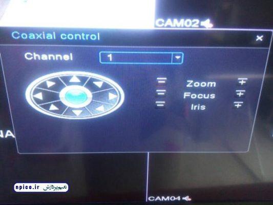 نحوه کنترل دوربین AHD با دی وی آر و کنترل کواکسیال - نعیم پردازش آموزش و پخش عمده دوربین مداربسته