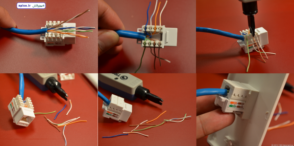 ساخت کابل شبکه با استفاده از کیستون